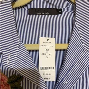 bebe Tops - Bebe embroidered stripe tie top